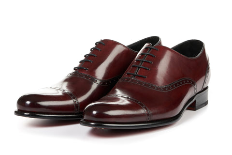 The Brando Semi-Brogue Oxford - Oxblood
