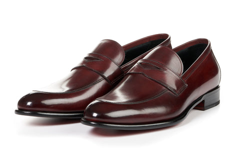 The Stewart Penny Loafer - Oxblood