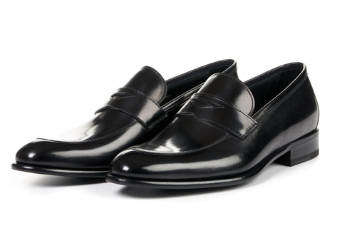 The Stewart Penny Loafer - Nero