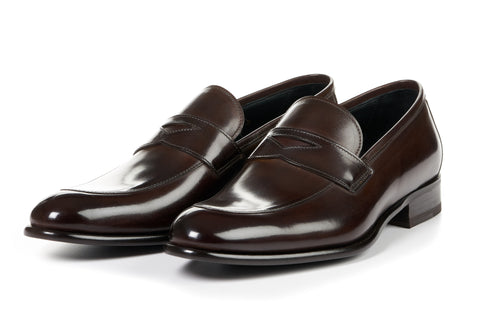 The Stewart Penny Loafer - Chocolate