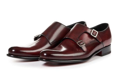 The Poitier Double Monk Strap - Oxblood