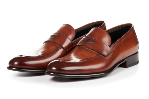 The Stewart Penny Loafer - Havana Brown