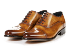 The Cagney II Stitched Cap-Toe Oxford - Tobacco