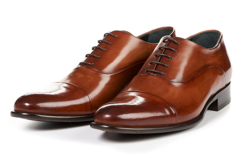 The Cagney Cap-Toe Oxford - Havana Brown