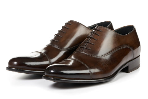 The Cagney II Stitched Cap-Toe Oxford - Chocolate