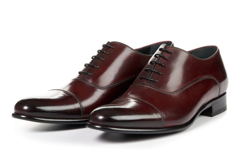 The Cagney II Stitched Cap-Toe Oxford - Oxblood