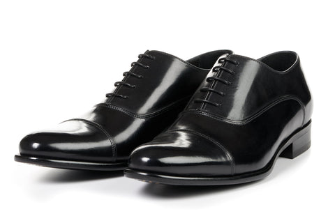 The Cagney II Stitched Cap-Toe Oxford - Nero