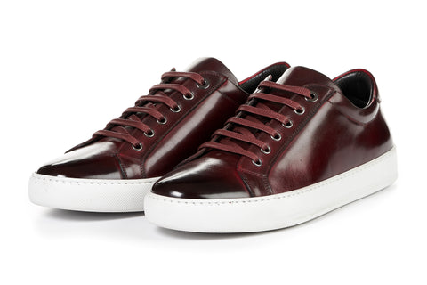 The Smith Low-Top Sneaker - Oxblood - White Sole