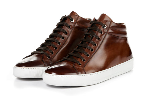 The Carter Mid-Top Sneaker - Marrone - White Sole
