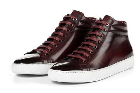The Carter Mid-Top Sneaker - Oxblood - White Sole