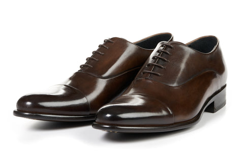 The Cagney Cap-Toe Oxford - Chocolate