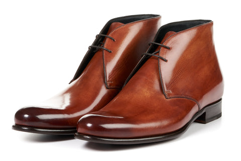The Newman Chukka Boot - Havana Brown