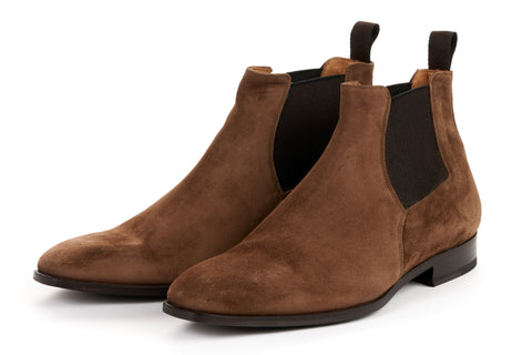 The Wayne Low-Cut Chelsea Boot - Martora Suede