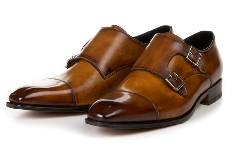 The Burton Double Monk Strap - Tobacco
