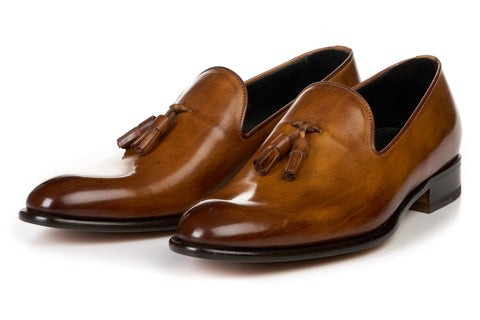 The Chaplin Tassel Loafer - Tobacco