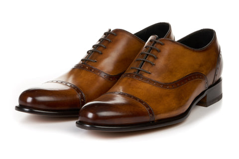 The Brando Semi-Brogue Oxford - Tobacco