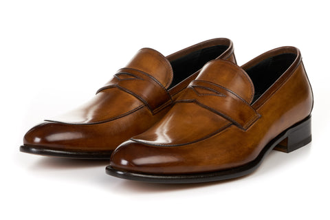The Stewart Penny Loafer - Tobacco