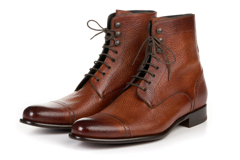 The Jackman Cap-Toe Boot - Havana Brown