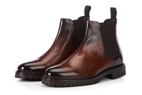 The Hardy Chelsea Boot - Brown - Rubber Sole