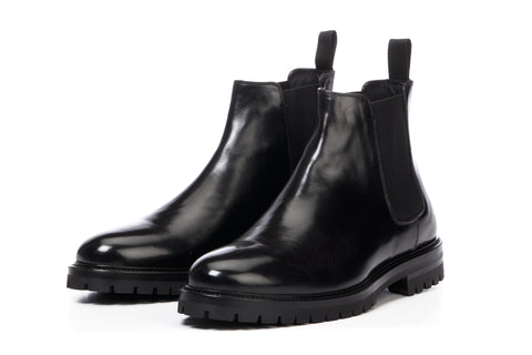 The Hardy Chelsea Boot - Nero - Rubber Sole