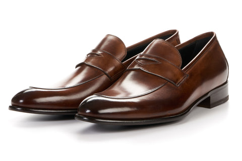 The Stewart Penny Loafer - Brown