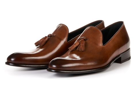 The Chaplin Tassel Loafer - Brown