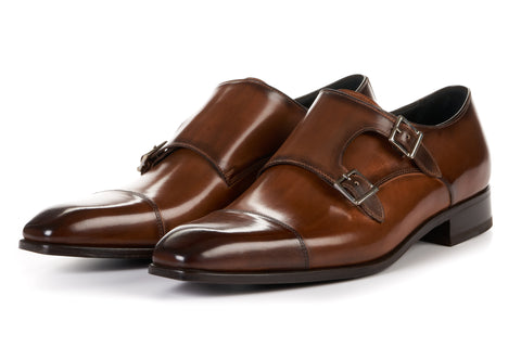 The Burton Double Monk Strap - Brown