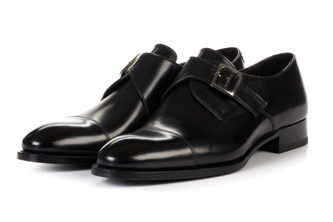 The Olivier Single Monk Strap - Nero
