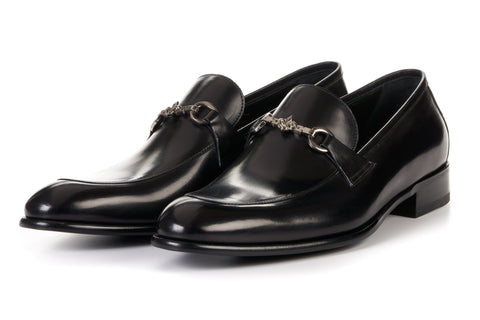 The Caine Bit Loafer - Nero