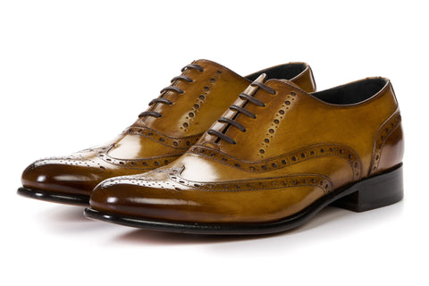 The West II Wingtip Oxford - Tobacco