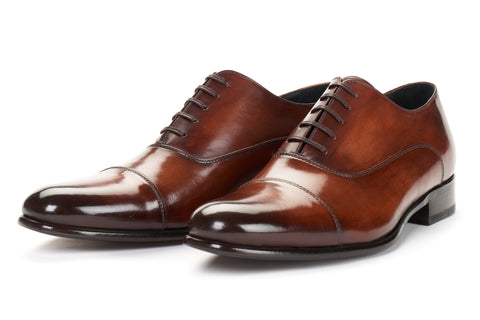 The Cagney II Stitched Cap-Toe Oxford - Brown