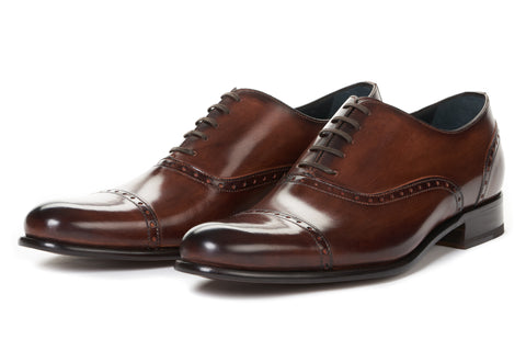 The Brando Semi-Brogue Oxford - Brown