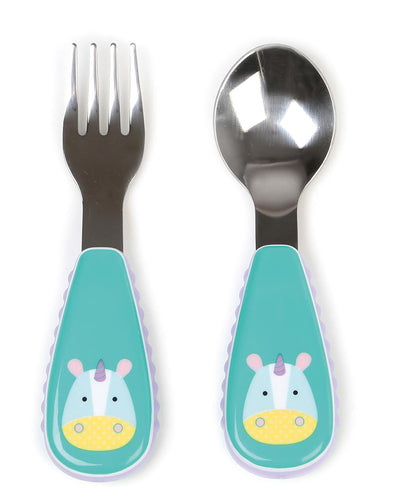 Zootensils Fork & Spoon | Unicorn
