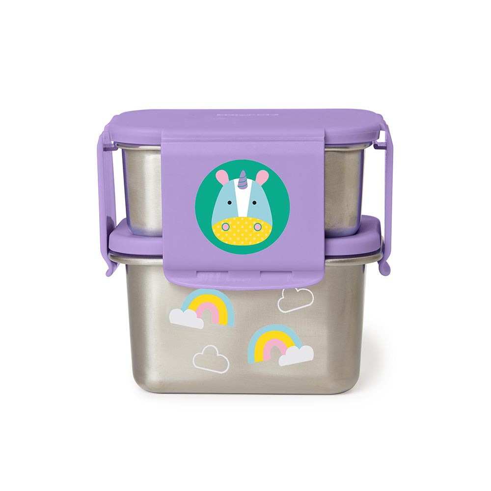 Zoo Stainless Steel Lunch Kit | Unicorn