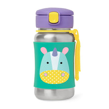 Load image into Gallery viewer, Zoo Stainless Steel Little Kid Straw Bottle | Unicorn