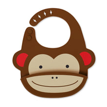Load image into Gallery viewer, Zoo Fold & Go Silicone Bib | Monkey