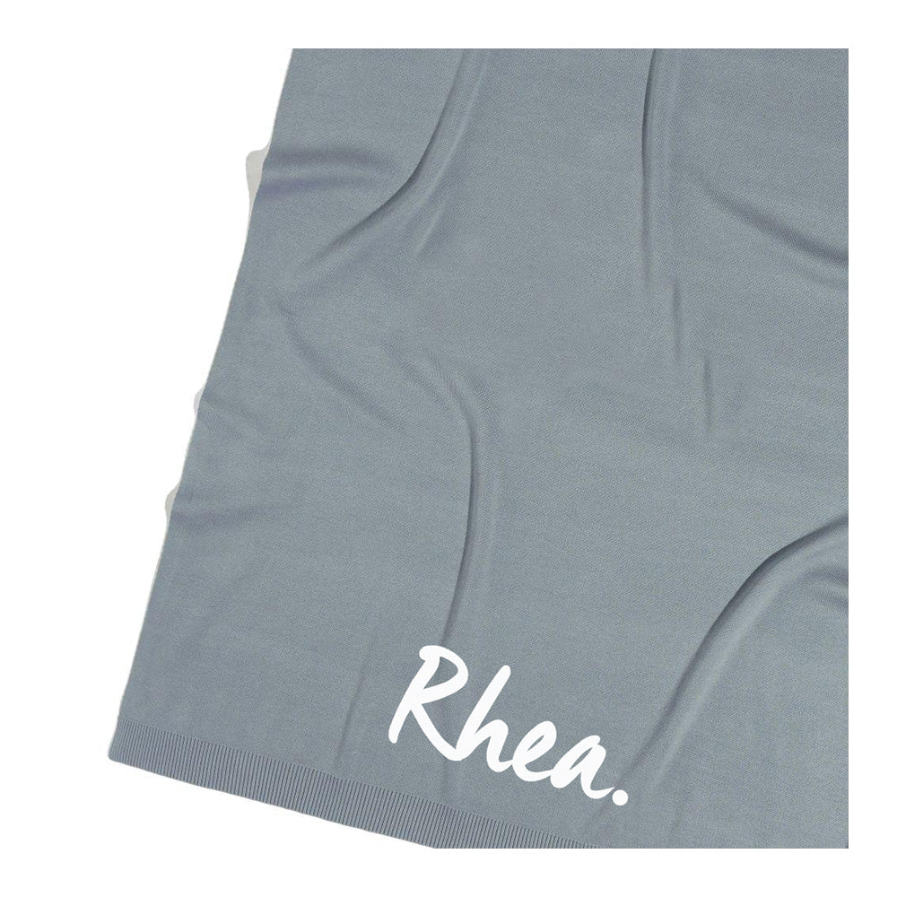 Stone Blue Personalized Organic Cotton Blanket for Adults