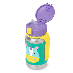 Zoo Stainless Steel Little Kid Straw Bottle | Unicorn