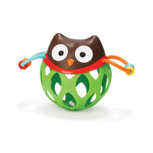 Explore & More Roll Around Rattles - Owl