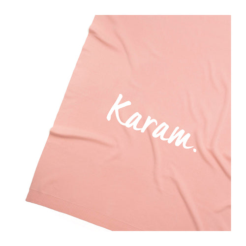 Apricot Pink  Personalized Organic Cotton Knitted Blanket for kids