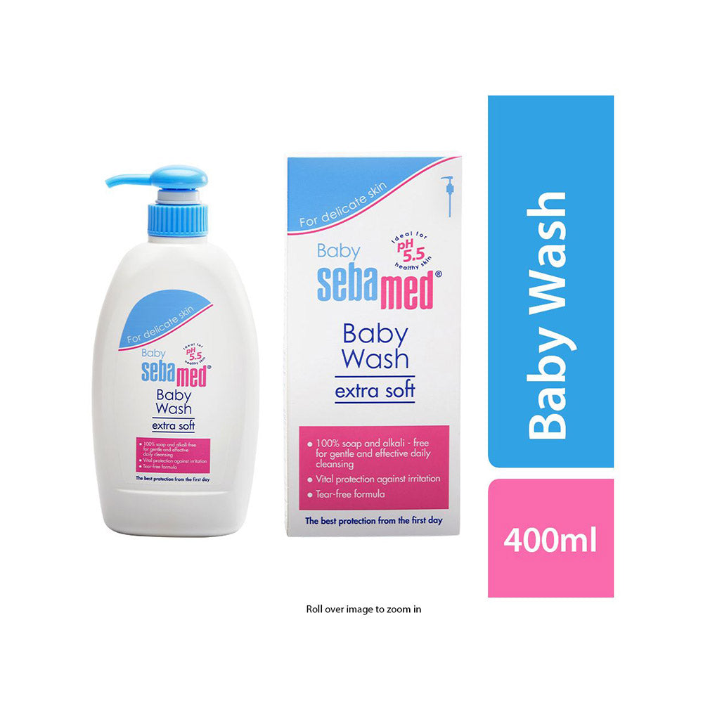 Extra Soft Baby Wash with Pump, 400ml