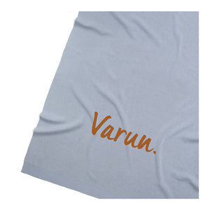 Kentucky Blue Personalized Organic Cotton Knitted Blanket - Single Bed