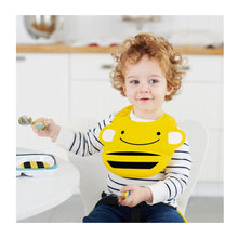 Load image into Gallery viewer, Zoo Fold & Go Silicone Bib | Bee