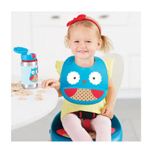 Load image into Gallery viewer, Zoo Fold & Go Silicone Bib | Owl