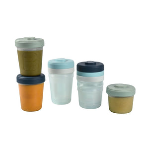 Toddler Food Storage Set - 8 Clip portions (4x150 ml + 4x250ml )