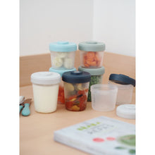 Load image into Gallery viewer, Toddler Food Storage Set - 8 Clip portions (4x150 ml + 4x250ml )