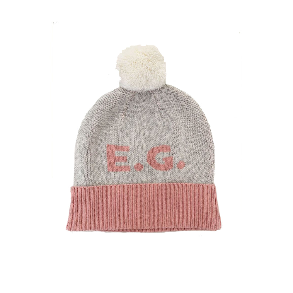 BEANIE: Snow Marl & Lily Pink