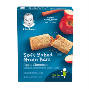 Soft Baked Cereal Bars |  Apple Cinnamon