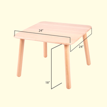 Load image into Gallery viewer, Kid's Wooden Table