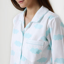 Load image into Gallery viewer, Women Organic Clouds Pajama Set